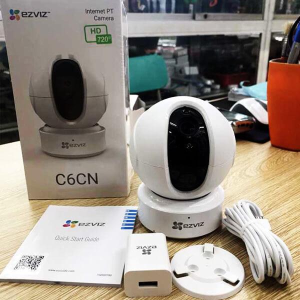 Camera EZVIZ C6CN-720P giá rẻ với đầy đủ phụ kiện kèm theo