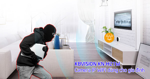 Camera KBONE KN-H21W tính năng theo dõi thông minh, bảo đảm an toàn cho căn nhà của bạn
