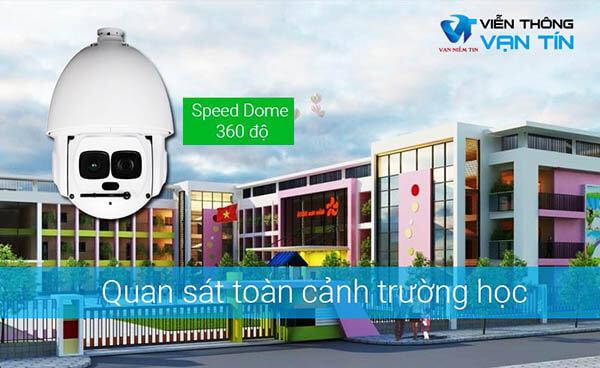 Lắp camera Speed Dome / PTZ tại cổng trường học