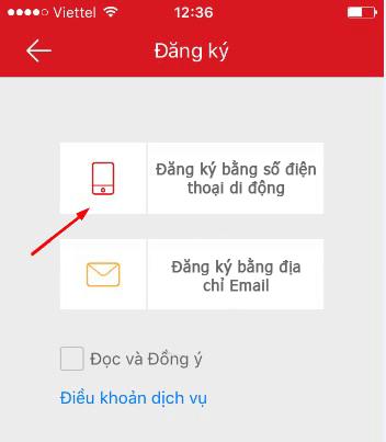 đăng kí Hik-Connect bằng Email hoặc SĐT