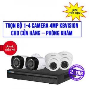 Trọn Bộ 4 Camera KBVISION 4MP Cho Phòng Khám, Shop