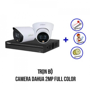 Trọn Bộ 2 Camera Dahua Full-Color 2.0MP