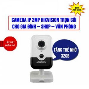 Trọn Bộ Camera IP Cube 2MP Hikvision HKI-2423G0-IW Giá Rẻ
