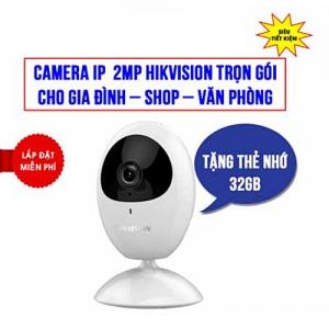 Trọn Bộ Camera Wifi 2MP Hikvision HKI-2U21FD-IW Cho Gia Đình