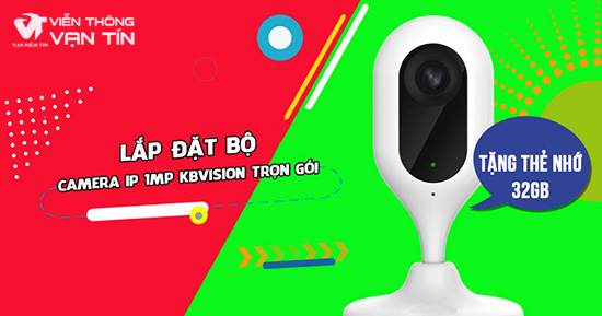 Lắp Đặt Trọn Bộ Camera Wifi Cube 1MP Kbvision KBI-H10WN Giá Rẻ