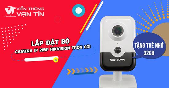 Lắp Đặt Trọn Bộ Camera IP Cube 2MP Hikvision HKI-2423G0-IW Giá Rẻ