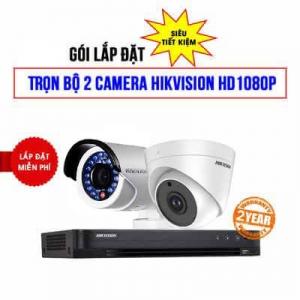 Trọn Bộ 2 Camera HD-TVI Hikvision Full HD1080P Cho Shop