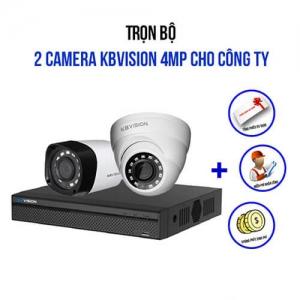 Trọn Bộ 2 Camera Kbvision 4.0Mp Cho Công Ty