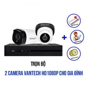 Trọn bộ 2 camera VANTECH HD1080P cho gia đình