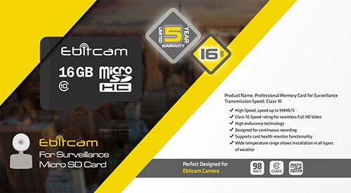 Thông Số Kỹ Thuật Thẻ Nhớ 16GB Ebitcam Ultra Class 10