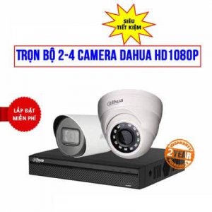 Trọn bộ 2 camera Dahua HD 1080P cho gia đình