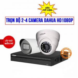 Trọn Bộ 2 Camera Dahua 2MP Full HD 1080P Cho Công Ty