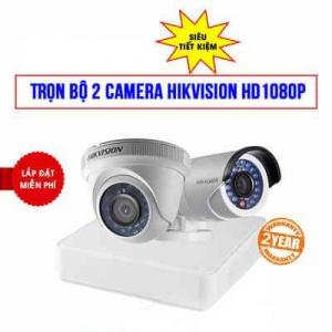 Trọn Bộ 2 Camera Hikvision HD1080P Cho Công Ty