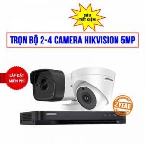 Trọn bộ 2 camera HIKVISION 5MP cho nhà hàng