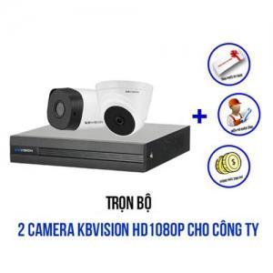 Trọn bộ 2 camera KBVISION HD1080P cho công ty