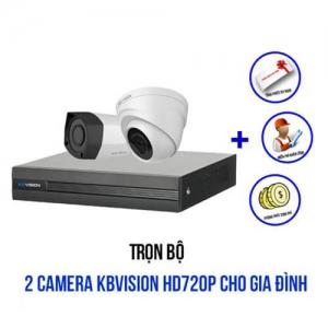 Trọn Bộ 2 Camera KBvision HD 720P Cho Nhà Ở