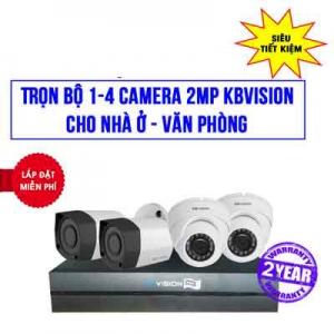 Trọn Bộ 4 Camera KBVISION 2MP Cho Nhà Ở, Văn Phòng