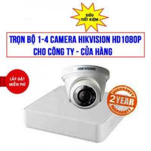 Trọn bộ 1-4 Camera Hikvision 2.0MP Cho Nhà Thuốc - Shop