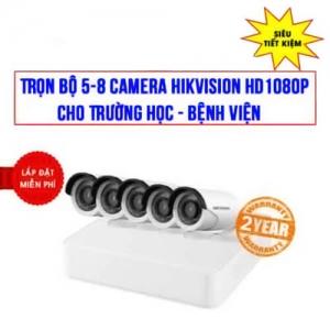Trọn bộ 5-8 camera Hikvision HD1080P cho Trường học – Bệnh viện