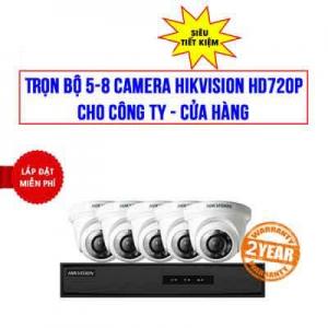 Trọn bộ 5-8 camera HIKVISION HD720P cho Công Ty