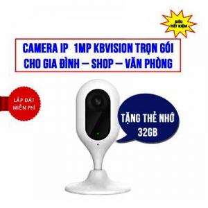 Trọn Bộ Camera Wifi Cube 1MP Kbvision KBI-H10WN Giá Rẻ
