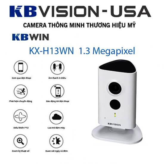 Tính năng Camera Smart IP 1.3 Megapixel F2.3mm Kbvision KX-H13WN