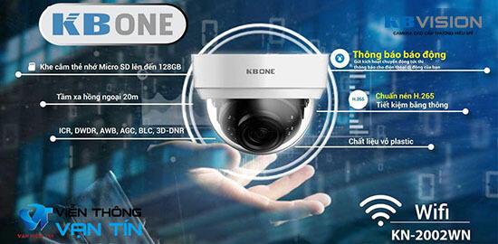 Camera Ip Wi-Fi 2.0 Megapixel KBONE KN-2002WN giá rất rẻ