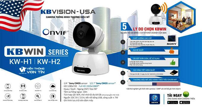 KBWin KW-H1 Camera IP Wifi Kbvison 720P hiện đại