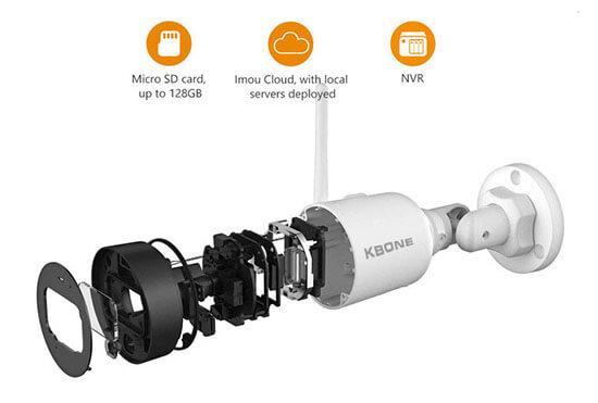 Chi tiết kỹ thuật Camera IP Wifi 2.0 Megapixel KBVISION KBONE KN-2001WN