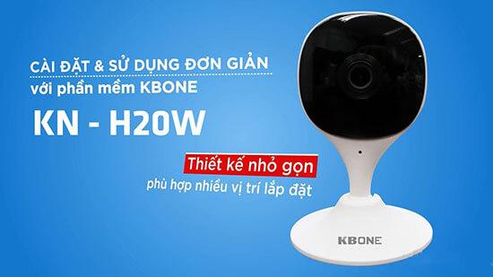 Camera IP Wifi 2.0 Megapixel Kbone KN-H20W 1080P sử dụng đơn giản