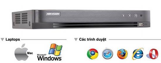 HIKVISION DS-7208HUHI-K1/E(S) xem trên nhiều trình duyệt