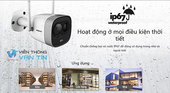 Camera IP Wifi KBVISION 2.0MP KBONE KN-2003WN.PIR chuẩn IP67