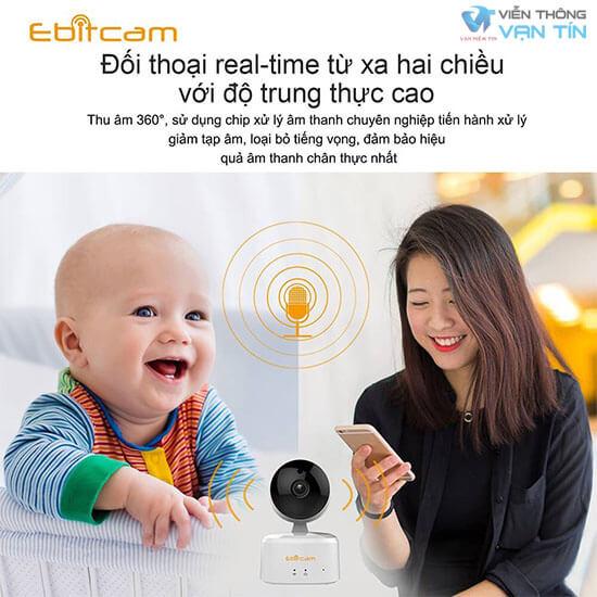 Camera IP Wifi EBITCAM E2X đàm thoại 2 chiều