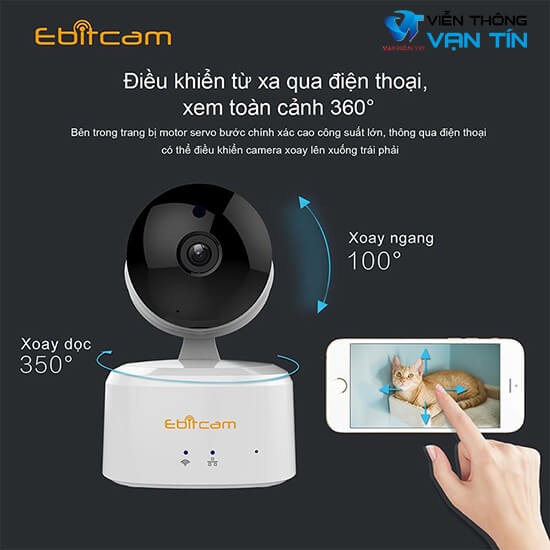 Camera IP Wifi EBITCAM E2X xoay 350 độ