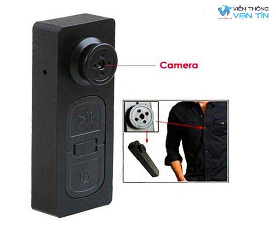 Camera cút áo, xem qua mạng, có pin lưu trữ