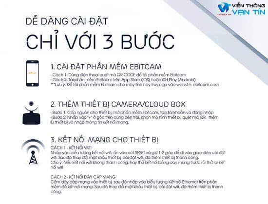 Camera Wifi EbitCam EB03 cài đặt đơn giản