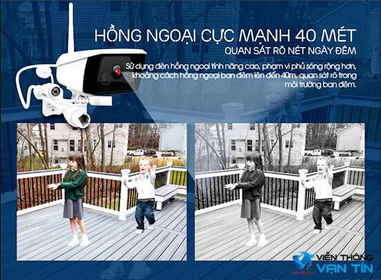 Camera Wifi EbitCam EB03 hồng ngoại cực xa