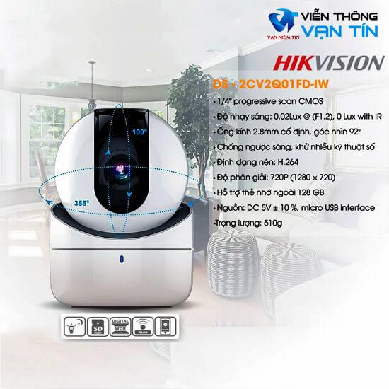 HIKVISION DS-2CV2Q21FD-IW camera wifi tính năng hiện đại