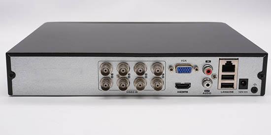 Mặt sau Đầu Ghi Hình Hybrid TVI-IP 8 kênh TURBO 4.0 HIKVISION DS-7208HUHI-K1/E(S)