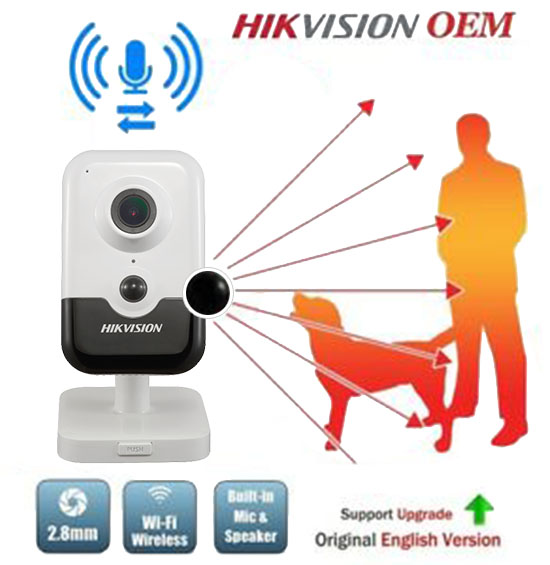 Hikvision DS-2CD2463G0-IW Camera Wifi Cube Âm Thanh 2 Chiều