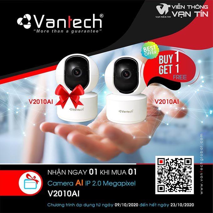 Mua 1 Tặng 1 Cùng Camera VANTECH V2010AI