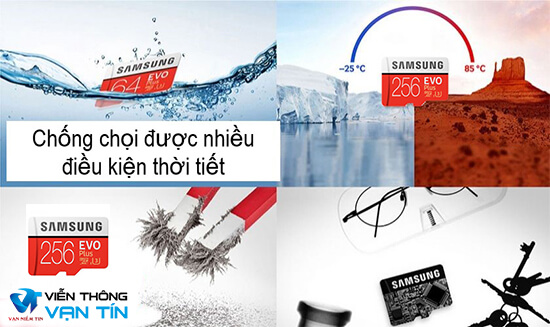 Thẻ Nhớ Samsung 256GB Evo Plus (Class10) chống nước