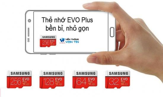 Thẻ Nhớ Samsung 256GB Evo Plus (Class10) bền bỉ