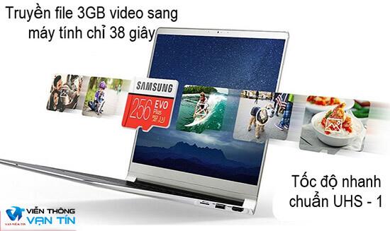 Thẻ Nhớ Samsung 256GB Evo Plus (Class10) tốc độ cao