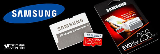 Thẻ Nhớ Samsung 256GB Evo Plus (Class10) thương hiệu nổi tiếng