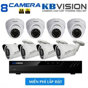Trọn bộ 8 camera Kbvision khuyến mãi