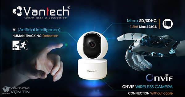 Camera AI Wifi 4MP Pan/Tilt Robot VANTECH AI-V2010C