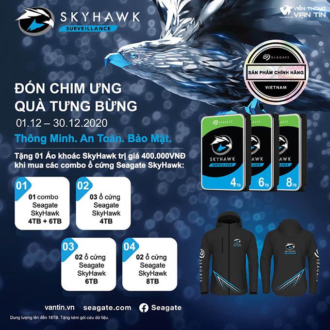 Mua Combo Ổ Cứng Seagate SkyHawk, Nhận Áo Khoác Seagate