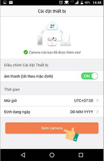 Cài đặt xem camera EZVIZ trên điện thoại Bước 13