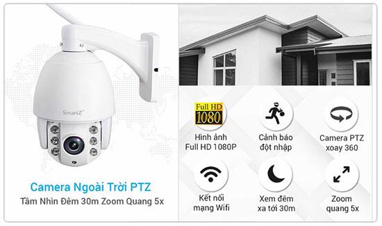 Tính Năng Camera IP Speed Dome SmartZ SCD2029